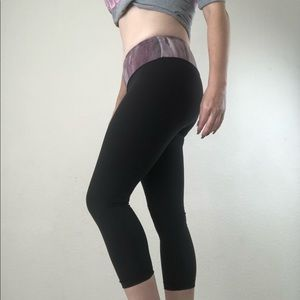 Lululemon black Capri leggings size 2